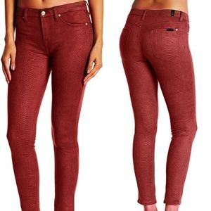 7 for all mankind gwenevere faux suede skinny pant